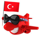 Plane with Turkish flag — Stock Photo
