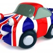 Car colored as British flag — Stock Photo #50304341