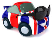 Car colored as British flag — Stock Photo