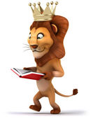 Lion with book — Stock Photo