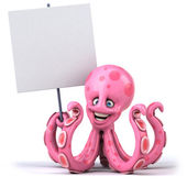 Fun octopus — Stock Photo