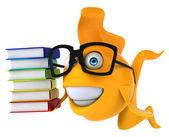 Fun fish with books — Stock Photo
