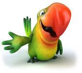 зеленый попугай — Стоковое фото