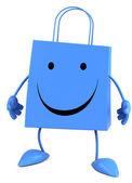 快乐购物袋 — 图库照片