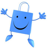 Bolso de compras feliz — Foto de Stock