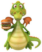Fun dragon with burger — Photo