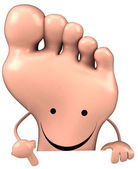 Fun foot at board — Stock Photo