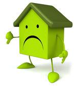 Sad Green house — Stock Photo