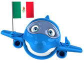 Fun plane with Mexican flag — Stock Photo