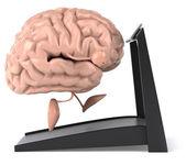 Fun brain on treadmill — Stock Photo