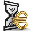 Royalty-Free Stock Photo: Sandglass icon and dollar sign.