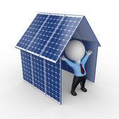 Concepto de la energía solar. — Foto de Stock