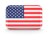 American flag icon. — Stock Photo