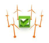 Wind energy concept. — Stock Photo