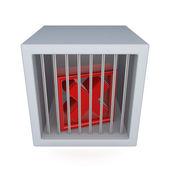 刑務所に赤いバツ印. — ストック写真