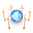 Wind energy concept. - Stock Photo