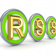 Stock Photo: RSS concept.