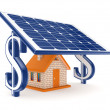 Stock Photo: Solar energy concept.