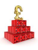 Financial pyramid concept. — Stock Photo