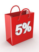 """The red bag labeled """"5%"""". — Stock Photo"""