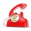 Vintage telephone with golden dollar sign. — Stock Photo