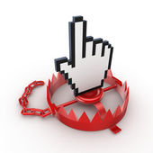 Cursor on a red trap. — Stock Photo