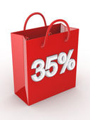 """The red bag labeled """"35%"""". — Stock Photo"""
