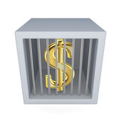Dollar sign in a prison. — Stock Photo