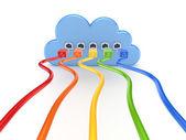 Cloud computing koncept — Stockfoto