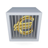 Euro sign in a prison. — Stock Photo