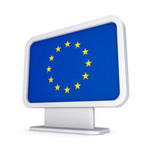 EU flag in a lightbox. — Stock Photo