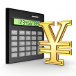 Calculator and yen symbol. — Stock Photo #19608787