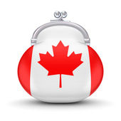 Canadian flag on a wallet. — Stock Photo