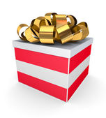 Giftbox with austrian flag. — Photo