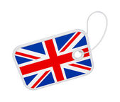 Tag with a flag of United Kingdom. — Stock Photo
