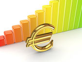 Colorful graph and euro sign. — Stock Photo