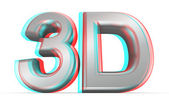 3D movie concept. — Stock Photo