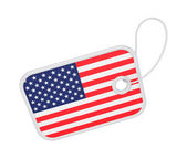 Tag with a flag of America. — Stock Photo