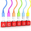 Royalty-Free Stock Photo: Colorful patchcords and word Access.