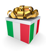 Giftbox with italian flag. — Stock Photo