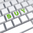 Word BUY on keyboard. — Foto Stock