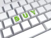 Word BUY on keyboard. — Stock Photo