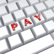 Word PAY on keyboard. — 图库照片