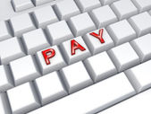 Word PAY on keyboard. — Stock Photo