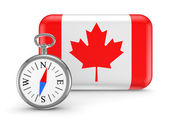 Canadian flag. — Stock Photo