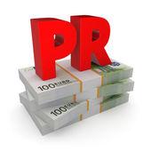PR concept. — Stock Photo
