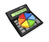 Colorful graph on calc. — Stock Photo