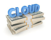 Word cloud stacken dollar. — Stockfoto