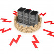 Firewall concept. - Stock Photo