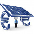 Solar energy concept. — Stock Photo
